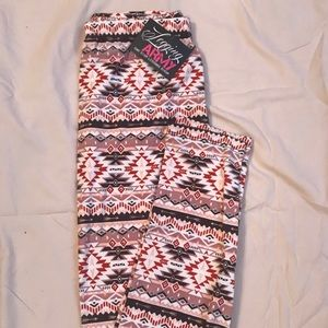 Legging Army One Size Aztec Leggings NWT
